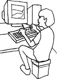 coloring pages in computer computer for kids printable free