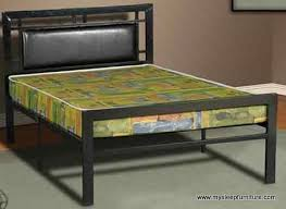 double full size 2201 black color metal bed frame with pu