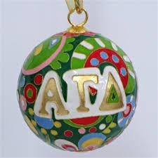 alpha gamma delta psychedelic cloisonne ornament