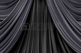 Black Curtain White And Pink Curtain Backdrop Background For Wedding Stock Photo