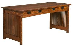 Mission Style Desks For Home Office Amish Signature Mission Work Desk Mission Style Furniture Desks