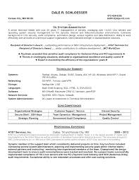 Database Administrator Resume Objective Resume Systems Administrator Resume