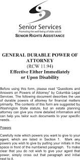 Legal Power Of Attorney Document by Washington State Legal Forms Power Of Attorney Create