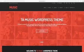 ta music the best free music band wordpress theme
