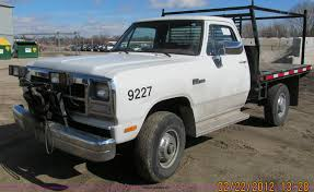 Dodge Ram 350 - 1992 dodge power ram 350 flatbed truck item a8192 sold
