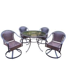 Tuscan Dining Chairs Oakland Living Tuscany Resin Wicker 5 Piece Swivel Patio Dining