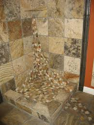 Bathroom Shower Floor Ideas Spacious Bathroom River Rock Shower Floor At Find Best