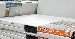 Lifetime 6 Folding Table Lifetime Commercial Grade 6 Ft Fold In Half Table Model 80264