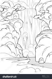 cartoon coloring book hand drawn mystical stock vector 371409226