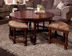 coffee table furniture round coffee table with seating underneath