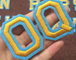 multicolored embroidery iron on letters applique patchiron on