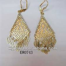hanging earrings wholesale models of gold earrings arabic style jewelry gold