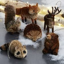 animal ornaments crate and barrel