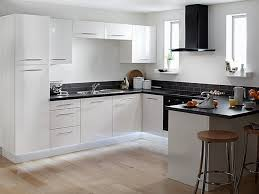 gorgeous modern kitchen with black appliances kitchen design white