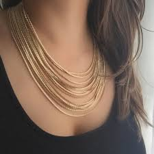 multi gold necklace images Miracle multi strand gold necklace best necklace jpg