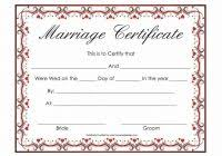 fake marriage certificate template best and various templates design