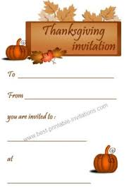 printable thanksgiving invitations