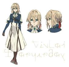Violet Evergarden Violet Evergarden Anime Reveals Character Designs News Anime
