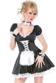Homemade Woman Halloween Costume Flirty Servant Maid Costume Maid Costumes