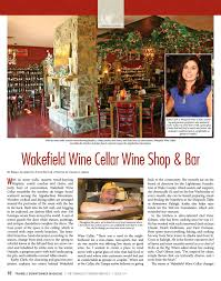 Wakefield Wine Cellar - a special triangle performing arts issue triangle downtowner