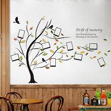 Tree Wall Decals For Living Room Fallen Leaves Photo Frame Wall Stickers Creative Diy Family Tree