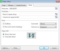 how to set print areas and print titles on a worksheet
