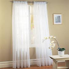 White Window Curtains Comfort Voile84 Window Curtains Sheer Panel With 2 Inch