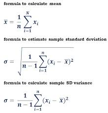 estimate sample formulas to estimate sample standard deviation probability