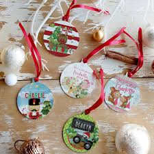 personalised tree ornaments decorations