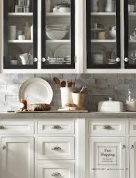 pottery barn white kitchen cabinets with black doors grey
