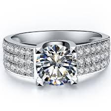 wedding ring test test as real 1ct moissanite diamond wedding ring sterling silver
