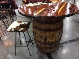 Wine Barrel Bar Table Dining Room Wine Barrel Table Tops Whiskey Barrel Furniture
