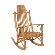 Amish Chair Bent Oak Rocker Peaceful Valley Amish Furniture
