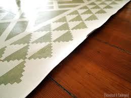 Pics Of Linoleum Flooring Thoughts On My Painted Linoleum Area Rug Reality Daydream