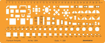 isomars 1 200 scale architectural drawing template stencil