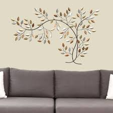 leaf branch metal wall art