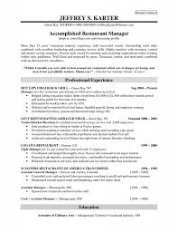 Sample Resume For Restaurant Jobs by Bar Manager Resume Berathen Com
