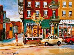 paint places paintings of famous montreal places st viateur bagel city scene