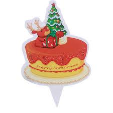 online shop 50pcs merry christmas birthday cake flag gift for