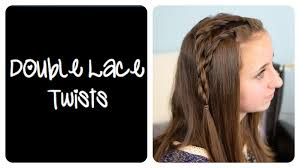 diy double lace twists cute girls hairstyles youtube