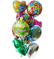 mylar balloon bouquet balloon bouquet 12 mylar get well gift baskets
