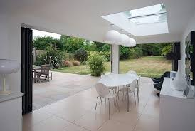 folding door glass extension bi folding doors for a kitchen dining room using the