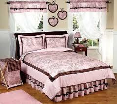 Pink Mossy Oak Comforter Set Pink U0026 Brown Toile Queen Size Comforter Set By Sweet Jojo Designs