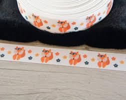 fox ribbon animal ribbon etsy