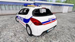 peugeot france 308 police france for farming simulator 2015