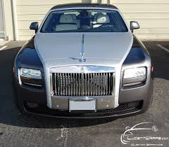 roll royce orange rolls royce ghost brushed aluminum hood wrap yelp