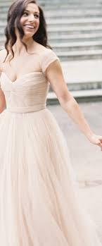 blush wedding dress with sleeves neck cap sleeve blush tulle fall wedding dress idress