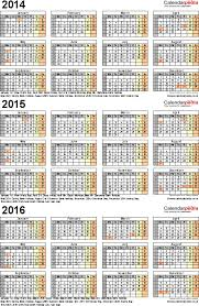 three year calendars for 2014 2015 u0026 2016 uk for word