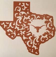 texas longhorns football decal for your yeti rambler tumbler