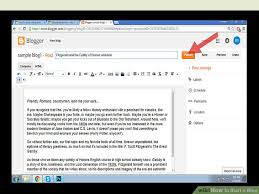 blogger com how to start a blog with exle blog post wikihow